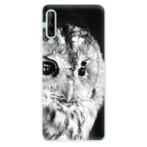 Odolné silikonové pouzdro iSaprio - BW Owl - na mobil Huawei P Smart Pro