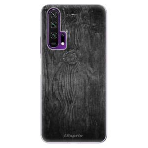 Silikonové pouzdro iSaprio - Black Wood 13 na mobil Honor 20 Pro