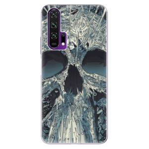 Silikonové pouzdro iSaprio - Abstract Skull na mobil Honor 20 Pro