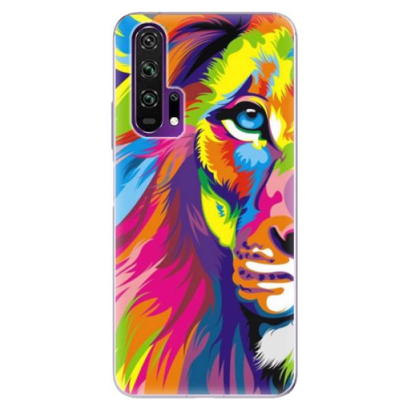 Odolné silikonové pouzdro iSaprio - Rainbow Lion - Honor 20 Pro