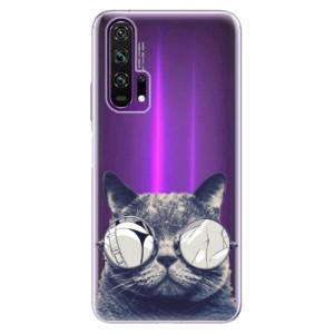 Silikonové pouzdro iSaprio - Crazy Cat 01 na mobil Honor 20 Pro