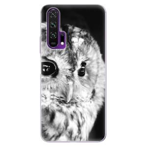 Silikonové pouzdro iSaprio - BW Owl na mobil Honor 20 Pro