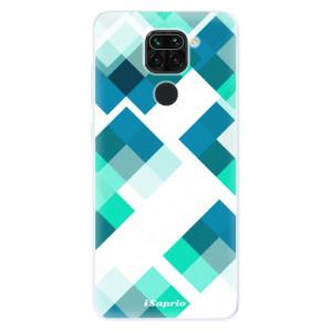 Silikonové pouzdro iSaprio - Abstract Squares 11 na mobil Xiaomi Redmi Note 9
