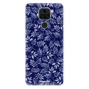 Silikonové pouzdro iSaprio - Blue Leaves 05 na mobil Xiaomi Redmi Note 9