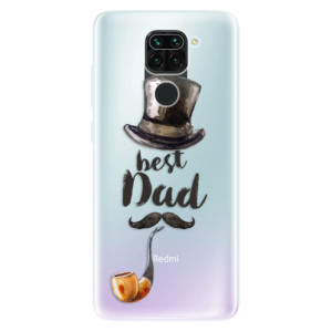 Silikonové pouzdro iSaprio - Best Dad na mobil Xiaomi Redmi Note 9