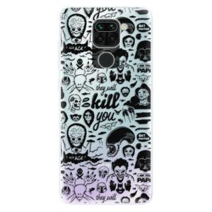 Silikonové pouzdro iSaprio - Comics 01 - black na mobil Xiaomi Redmi Note 9