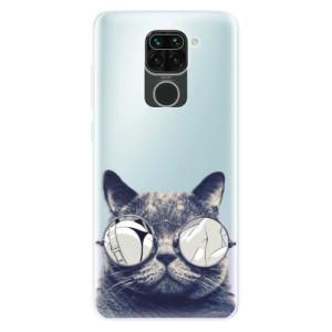 Silikonové pouzdro iSaprio - Crazy Cat 01 na mobil Xiaomi Redmi Note 9