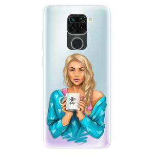 Silikonové pouzdro iSaprio - Coffe Now - Blond na mobil Xiaomi Redmi Note 9