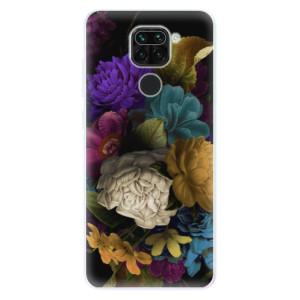 Silikonové pouzdro iSaprio - Dark Flowers na mobil Xiaomi Redmi Note 9