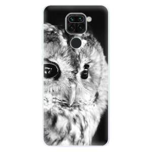 Silikonové pouzdro iSaprio - BW Owl na mobil Xiaomi Redmi Note 9