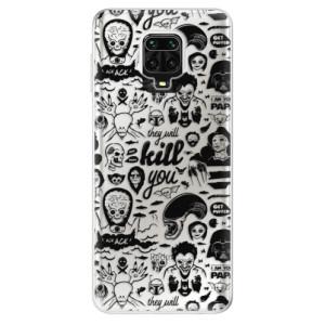 Silikonové pouzdro iSaprio - Comics 01 - black na mobil Xiaomi Redmi Note 9 Pro / Xiaomi Redmi Note 9S