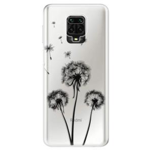 Silikonové pouzdro iSaprio - Three Dandelions - black na mobil Xiaomi Redmi Note 9 Pro / Xiaomi Redmi Note 9S