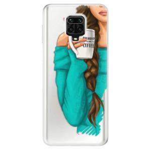 Silikonové pouzdro iSaprio - My Coffe and Brunette Girl na mobil Xiaomi Redmi Note 9 Pro / Xiaomi Redmi Note 9S