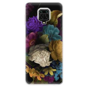 Silikonové pouzdro iSaprio - Dark Flowers na mobil Xiaomi Redmi Note 9 Pro / Xiaomi Redmi Note 9S