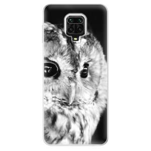 Silikonové pouzdro iSaprio - BW Owl na mobil Xiaomi Redmi Note 9 Pro / Xiaomi Redmi Note 9S