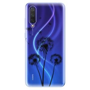 Silikonové pouzdro iSaprio - Three Dandelions - black na mobil Xiaomi Mi 9 Lite
