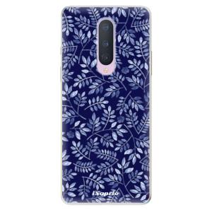 Silikonové pouzdro iSaprio - Blue Leaves 05 na mobil OnePlus 8