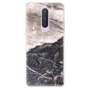 Silikonové pouzdro iSaprio - BW Marble na mobil OnePlus 8