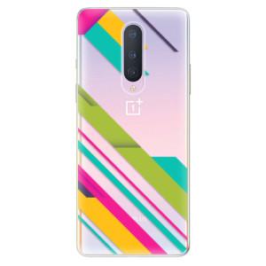Silikonové pouzdro iSaprio - Color Stripes 03 na mobil OnePlus 8