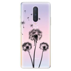 Silikonové pouzdro iSaprio - Three Dandelions - black na mobil OnePlus 8