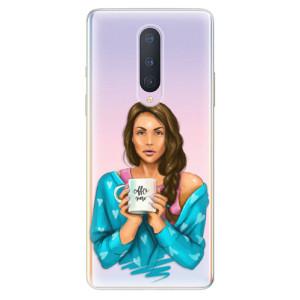 Silikonové pouzdro iSaprio - Coffe Now - Brunette na mobil OnePlus 8