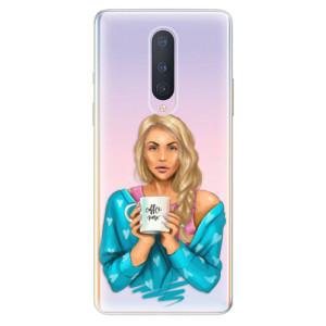 Silikonové pouzdro iSaprio - Coffe Now - Blond na mobil OnePlus 8