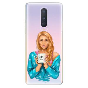 Silikonové pouzdro iSaprio - Coffe Now - Redhead na mobil OnePlus 8