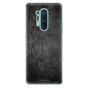 Silikonové pouzdro iSaprio - Black Wood 13 na mobil OnePlus 8 Pro