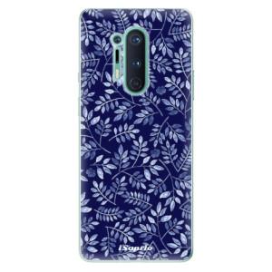 Silikonové pouzdro iSaprio - Blue Leaves 05 na mobil OnePlus 8 Pro