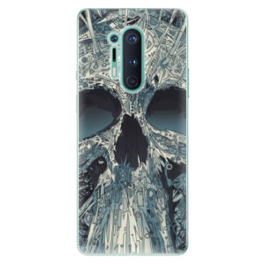 Silikonové pouzdro iSaprio - Abstract Skull na mobil OnePlus 8 Pro