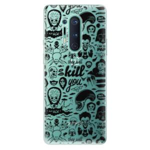 Silikonové pouzdro iSaprio - Comics 01 - black na mobil OnePlus 8 Pro