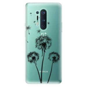 Silikonové pouzdro iSaprio - Three Dandelions - black na mobil OnePlus 8 Pro