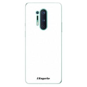 Silikonové pouzdro iSaprio - 4Pure - bílé na mobil OnePlus 8 Pro