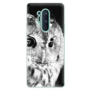 Silikonové pouzdro iSaprio - BW Owl na mobil OnePlus 8 Pro