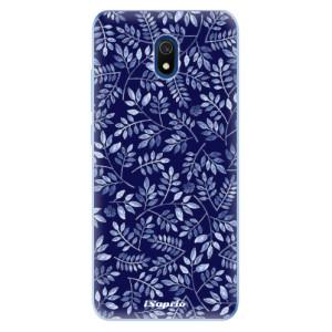 Odolné silikonové pouzdro iSaprio - Blue Leaves 05 na mobil Xiaomi Redmi 8A