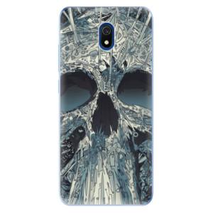 Odolné silikonové pouzdro iSaprio - Abstract Skull na mobil Xiaomi Redmi 8A