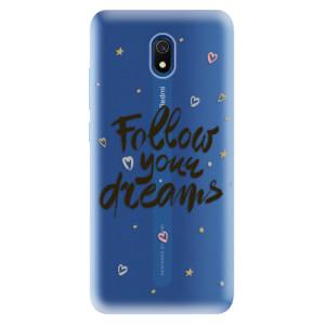 Odolné silikonové pouzdro iSaprio - Follow Your Dreams - black na mobil Xiaomi Redmi 8A
