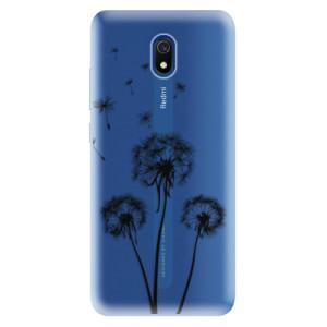 Odolné silikonové pouzdro iSaprio - Three Dandelions - black na mobil Xiaomi Redmi 8A