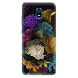 Odolné silikonové pouzdro iSaprio - Dark Flowers na mobil Xiaomi Redmi 8A