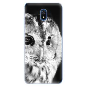 Odolné silikonové pouzdro iSaprio - BW Owl na mobil Xiaomi Redmi 8A