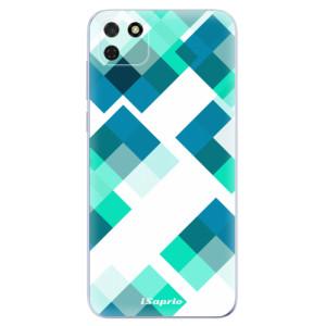 Odolné silikonové pouzdro iSaprio - Abstract Squares 11 na mobil Huawei Y5p / Honor 9S