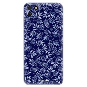 Odolné silikonové pouzdro iSaprio - Blue Leaves 05 na mobil Huawei Y5p / Honor 9S
