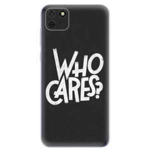 Odolné silikonové pouzdro iSaprio - Who Cares na mobil Huawei Y5p / Honor 9S