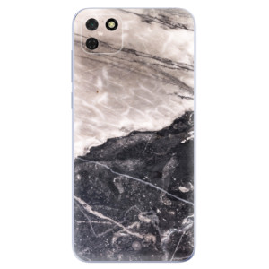 Odolné silikonové pouzdro iSaprio - BW Marble na mobil Huawei Y5p / Honor 9S
