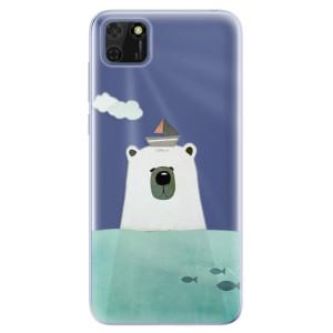 Odolné silikonové pouzdro iSaprio - Bear With Boat na mobil Huawei Y5p / Honor 9S