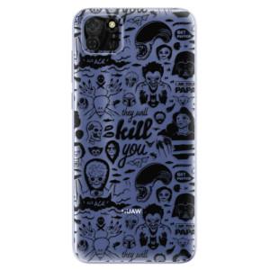 Odolné silikonové pouzdro iSaprio - Comics 01 - black na mobil Huawei Y5p / Honor 9S