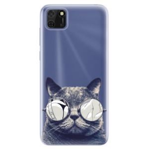 Odolné silikonové pouzdro iSaprio - Crazy Cat 01 na mobil Huawei Y5p / Honor 9S