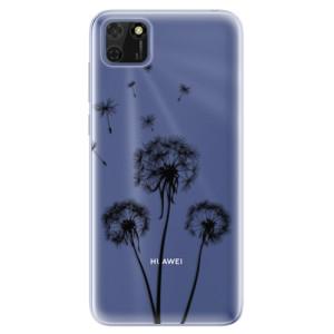 Odolné silikonové pouzdro iSaprio - Three Dandelions - black na mobil Huawei Y5p / Honor 9S