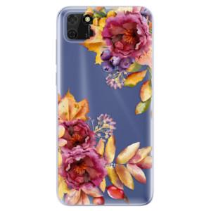 Odolné silikonové pouzdro iSaprio - Fall Flowers na mobil Huawei Y5p / Honor 9S