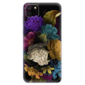 Odolné silikonové pouzdro iSaprio - Dark Flowers na mobil Huawei Y5p / Honor 9S